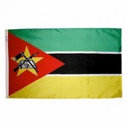 Nylon Mozambique Flag - 5 ft X 8 ft