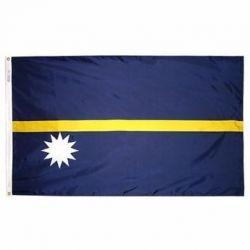Nylon Nauru Flag - 5 ft X 8 ft