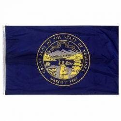 Nylon Nebraska State Flag - 5 ft X 8 ft