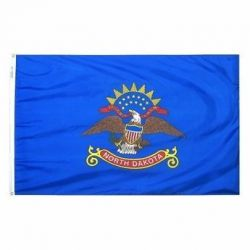 Nylon North Dakota State Flag - 5 ft X 8 ft