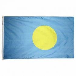 Nylon Palau Flag - 5 ft X 8 ft