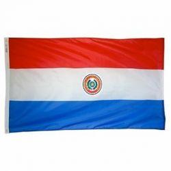 Nylon Paraguay Flag - 5 ft X 8 ft