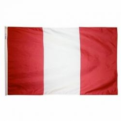 Nylon Peru Flag - 5 ft X 8 ft