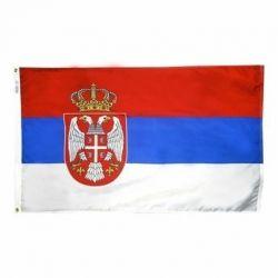 Nylon Serbia Flag - 5 ft X 8 ft