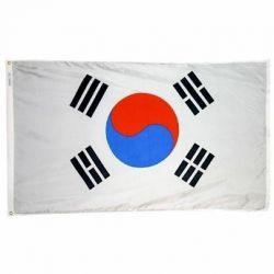 Nylon South Korea Flag - 5 ft X 8 ft