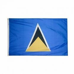 Nylon St. Lucia Flag - 5 ft X 8 ft