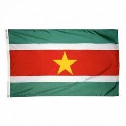 Nylon Suriname Flag - 5 ft X 8 ft