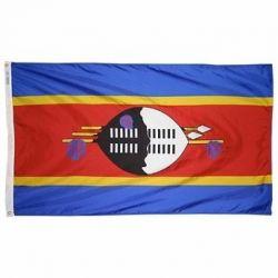 Nylon Swaziland Flag - 5 ft X 8 ft
