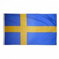 Nylon Sweden Flag - 5 ft X 8 ft