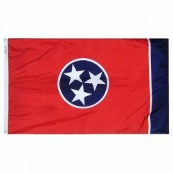 Nylon Tennessee State Flag - 5 ft X 8 ft