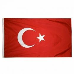 Nylon Turkey Flag - 5 ft X 8 ft