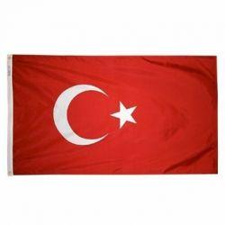 Nylon Turkey Flag - 5 ft X 8 ft