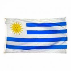 Nylon Uruguay Flag - 5 ft X 8 ft