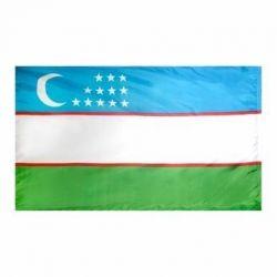 Nylon Uzbekistan Flag - 5 ft X 8 ft
