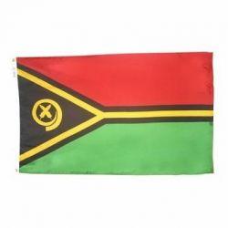 Nylon Vanuatu Flag - 5 ft X 8 ft