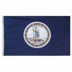 Nylon Virginia State Flag - 5 ft X 8 ft