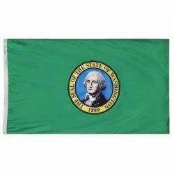 Nylon Washington State Flag - 5 ft X 8 ft