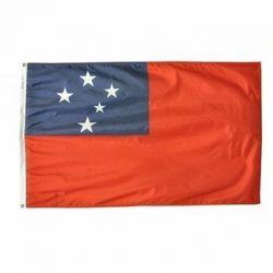 Nylon Western Samoa Flag - 5 ft X 8 ft