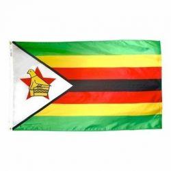 Nylon Zimbabwe Flag - 5 ft X 8 ft