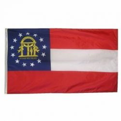 Nylon Georgia State Flag - 10 ft X 15 ft