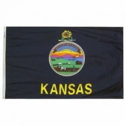 Nylon Kansas State Flag - 6 ft X 10 ft