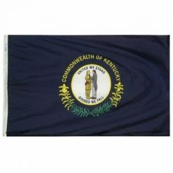 Nylon Kentucky State Flag - 8 ft X 12 ft
