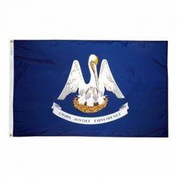Nylon Louisiana State Flag - 8 ft X 12 ft