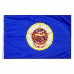 Nylon Minnesota State Flag - 12 in X 18 in