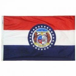 Nylon Missouri State Flag - 12 in X 18 in