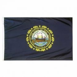 Nylon New Hampshire State Flag - 12 in X 18 in