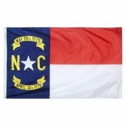Nylon North Carolina State Flag - 12 in X 18 in