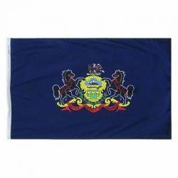 Nylon Pennsylvania State Flag - 12 in X 18 in