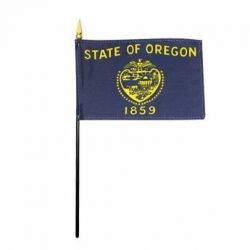 Oregon Stick Flags - 8 in X 12 in