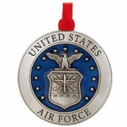 Air Force Pewter Christmas Ornament