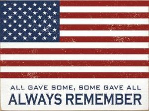 Always Remember US Flag Plaque