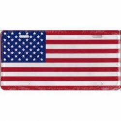 American Flag Auto Tag