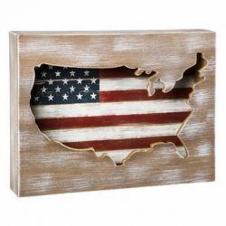 American Flag Cutout Plaque
