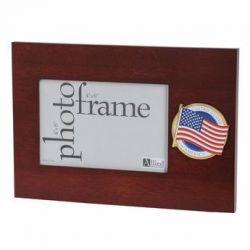 American Flag Medallion Desktop Picture Frame - 4 in X 6 in