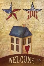 American Stars Welcome Garden Banner
