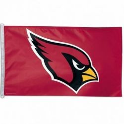 Deluxe Arizona Cardinals Flag - 3 ft X 5 ft