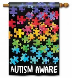 Autism Aware House Flag