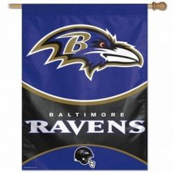 Baltimore Ravens Vertical Flag