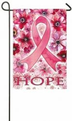 Breast Cancer Hope Garden Flag