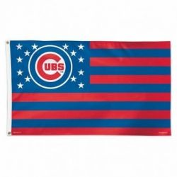 Chicago Cubs Stars and Stripes Flag