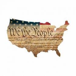 Constitution USA Custom Cut Steel Sign
