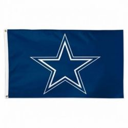 Deluxe Dallas Cowboys Flag - Blue - 3 ft X 5 ft