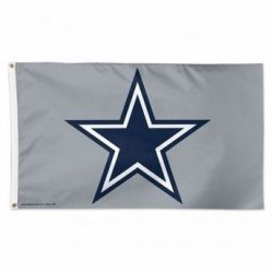 Deluxe Dallas Cowboys Flag - Grey - 3 ft X 5 ft