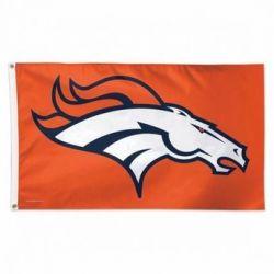 Deluxe Denver Broncos Flag - 3 ft X 5 ft