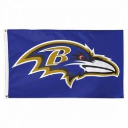 Deluxe Baltimore Ravens Flag - 3 ft X 5 ft
