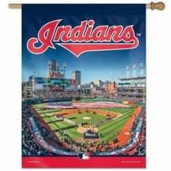 Deluxe Cleveland Indians Vertical Flag